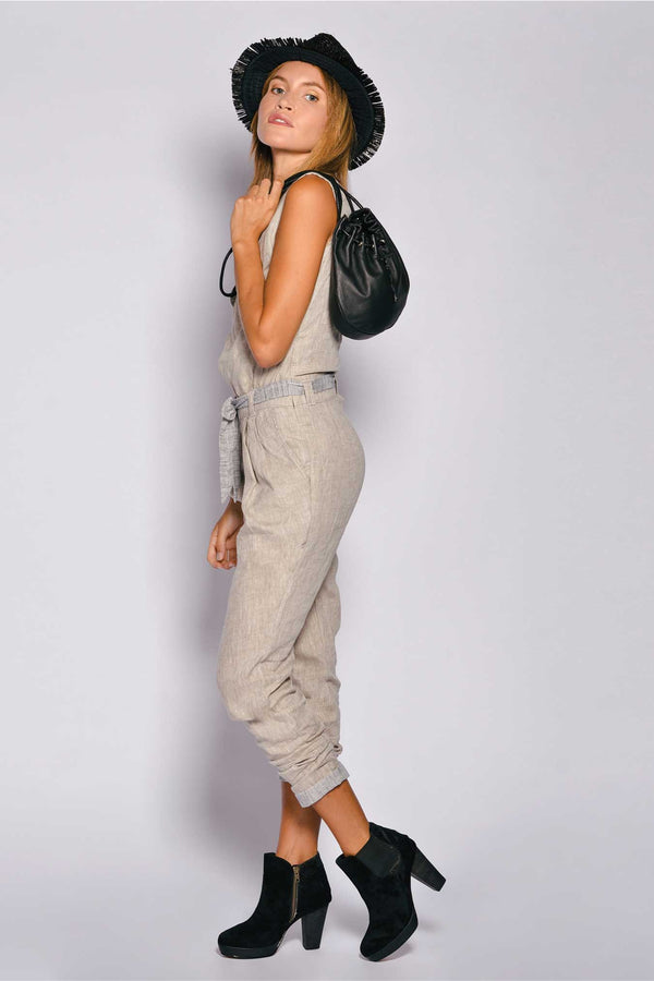 Pure Linen Women Playsuit Pietro Jumpsuit