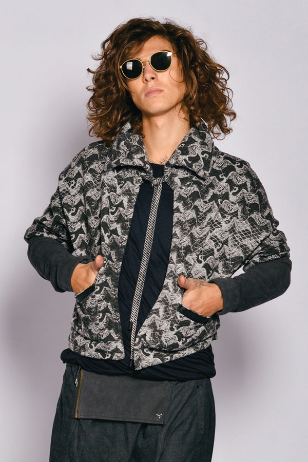 Men Printed Cotton Tambora Jacket
