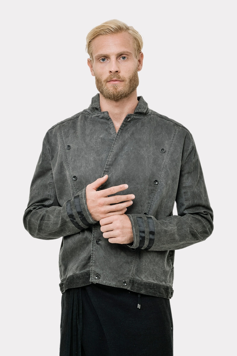 Washed Out Men Cotton Jupiter Jacket