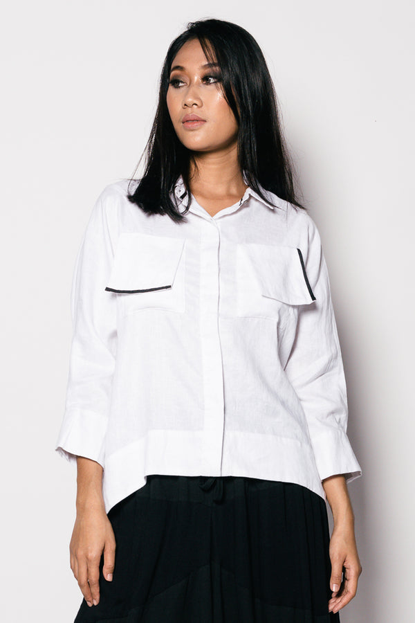 Pure linen Erika women top