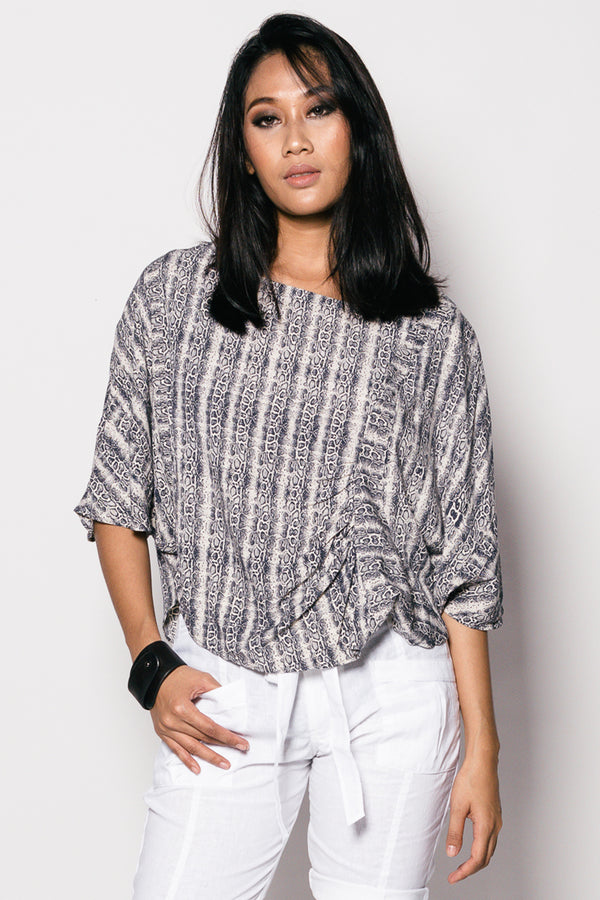Printed Women Garis Top