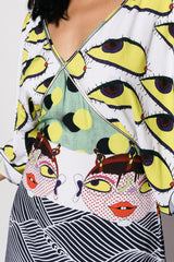 Digital Print Women Butterfly Cut Kenzo Dress
