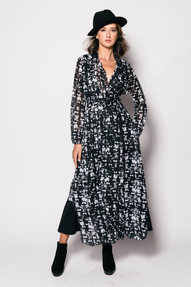 Printed Cotton Prince Long Coat