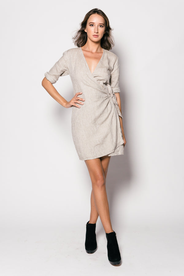 Pure Linen Piola Short Dress