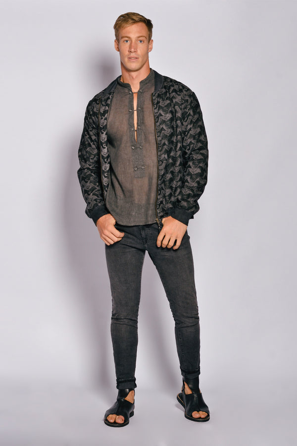 Washed out print Men Bomber Oasis Jacket