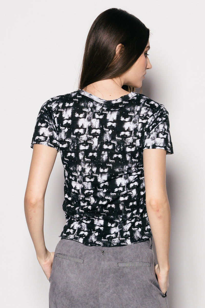 Printed Cotton Women Easy T-Shirt
