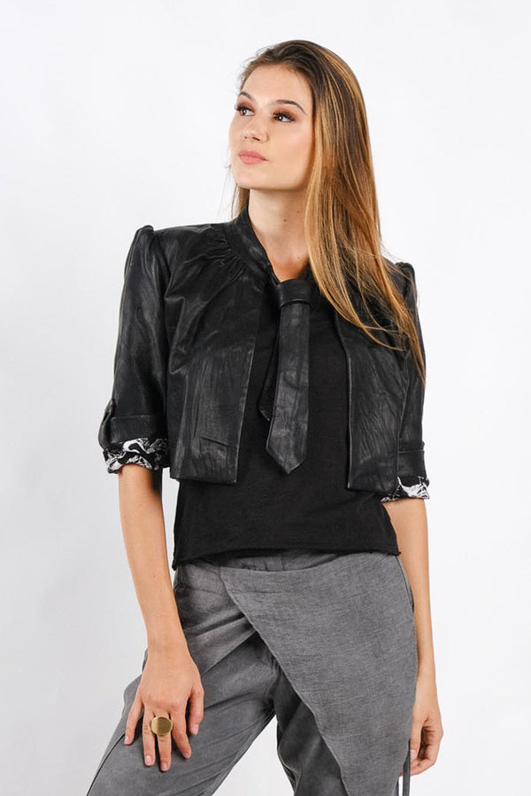 Sandrine Leather Jacket