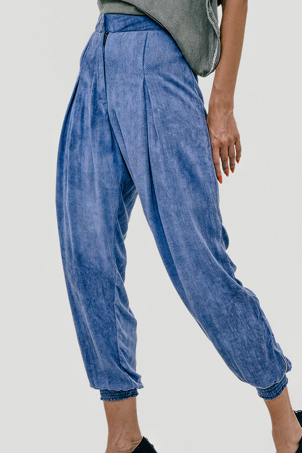 Washed out women baggie Meru pant
