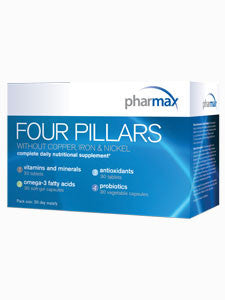 Four Pillars W/O Fe, Cu, Ni Supplement 30 day supply by Pharmax