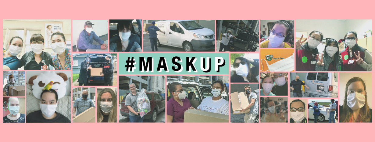 Image of #MaskUp recipients and donors
