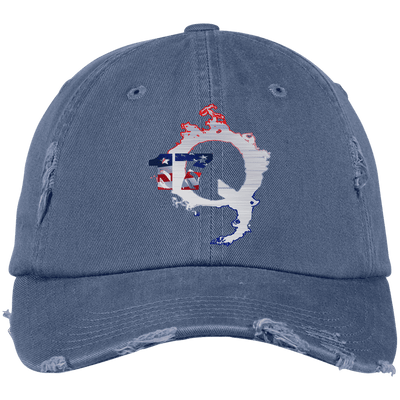 17 Q Hat Distressed Dad Cap - Dat Hats Online | Qanon Society