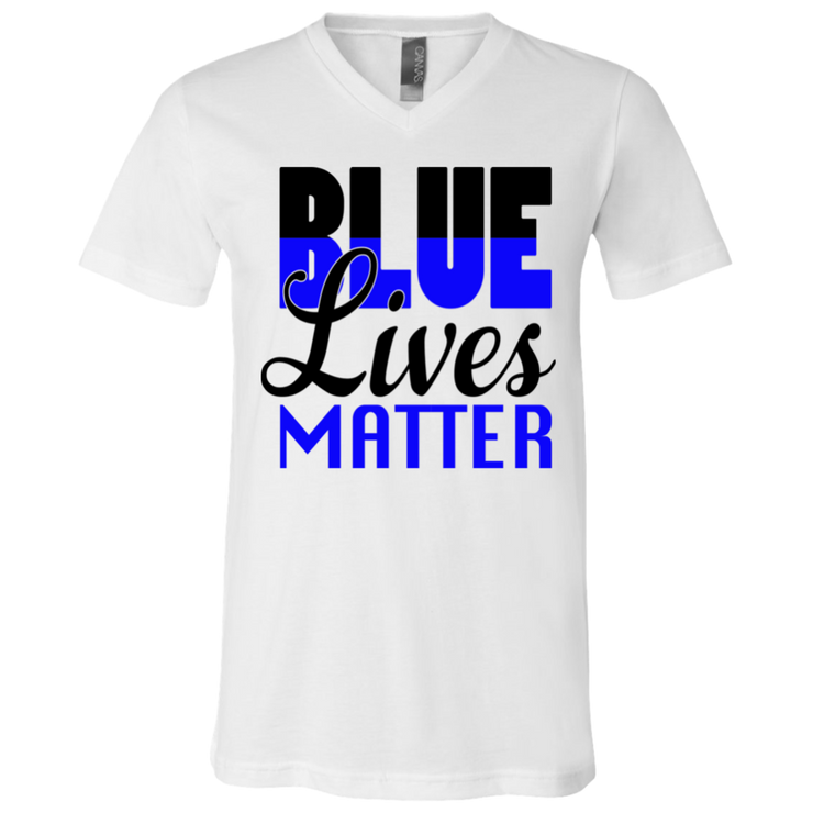 Blue Lives Matter V-Neck T-Shirt