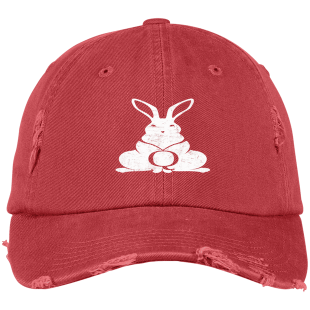 Q Rabbit Distressed Dad Cap