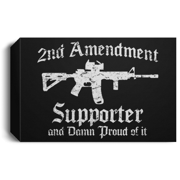 2nd Amendment Deluxe Landscape Canvas | Qanon Society