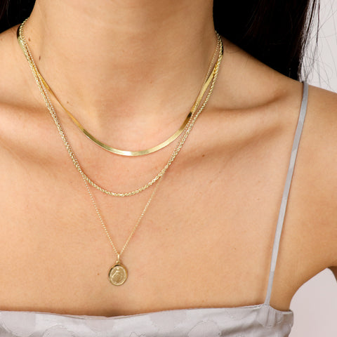 14k gold layering necklaces