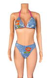 HIBISCUS denim high cut bikini