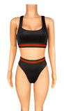 Label Babe sporty high cut bikini