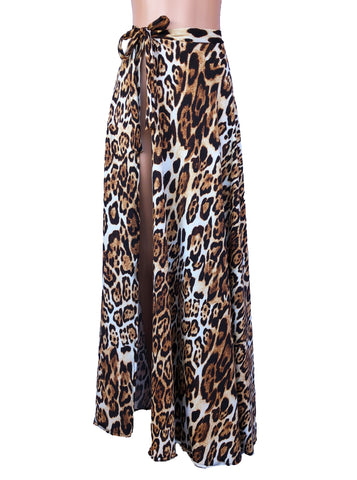 Leopard swimsuit coverup