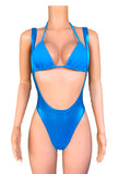 Metallic Suspender Swimsuit