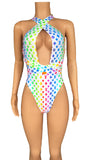 LV Milan RAINBOW high cut monokini