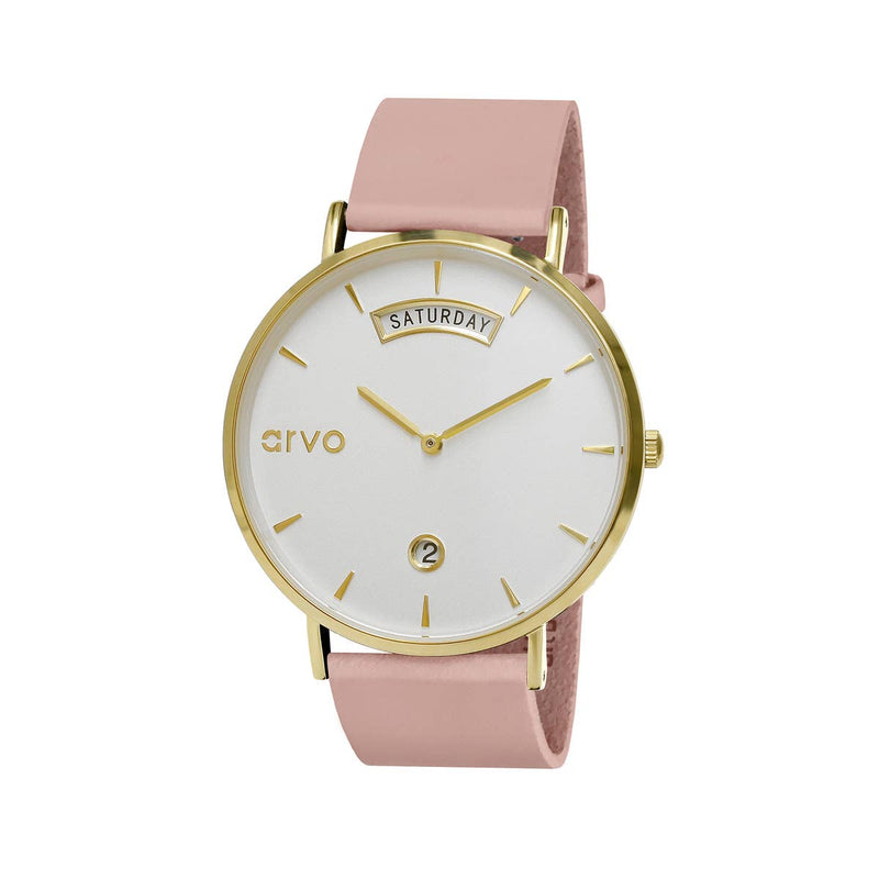 Awristacrat in Gold - Blush Leather Band