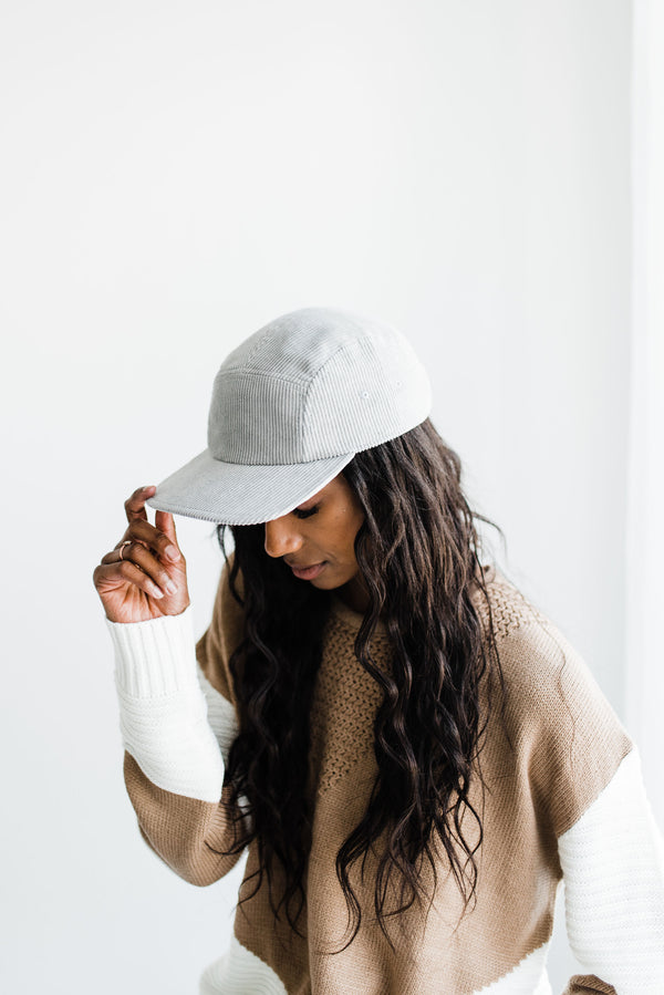 Gray waves women's baseball cap