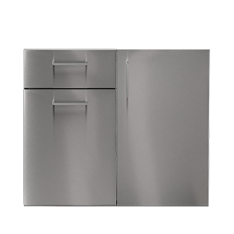 "Pure Drawer Recycling Single Door Storage, Stainless Steel, 36"" (W)"