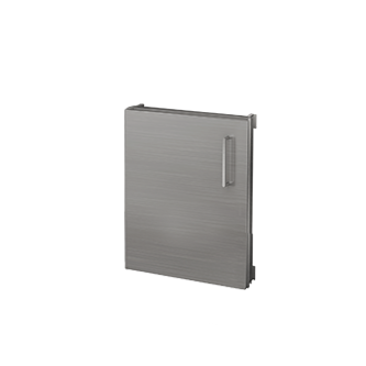 "Pure Built-in Access Single Door Mid-Height,  Stainless Steel, 18""(W), Hinges Left"