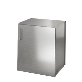 "Pure Built-in Single Door Enclosed Storage, Stainless Steel, 24"" (W), Hinges Right"