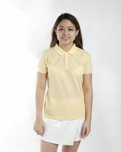 Egg Yellow Classique Plain Women's Polo Shirt