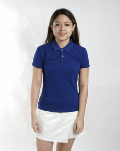 Royal Blue Classique Plain Women's Polo Shirt