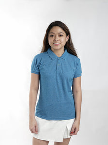 Acid Dark Aqua Blue Classique Plain Women's Polo Shirt