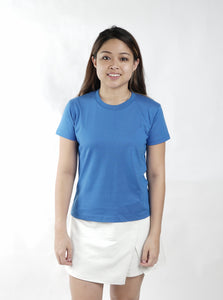 Dark Sky Blue Sun Plain Women's T-Shirt