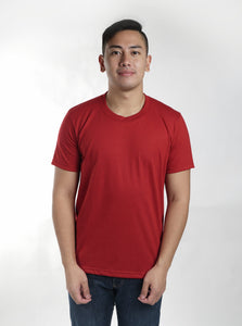 Red Maroon Sun Plain T-Shirt