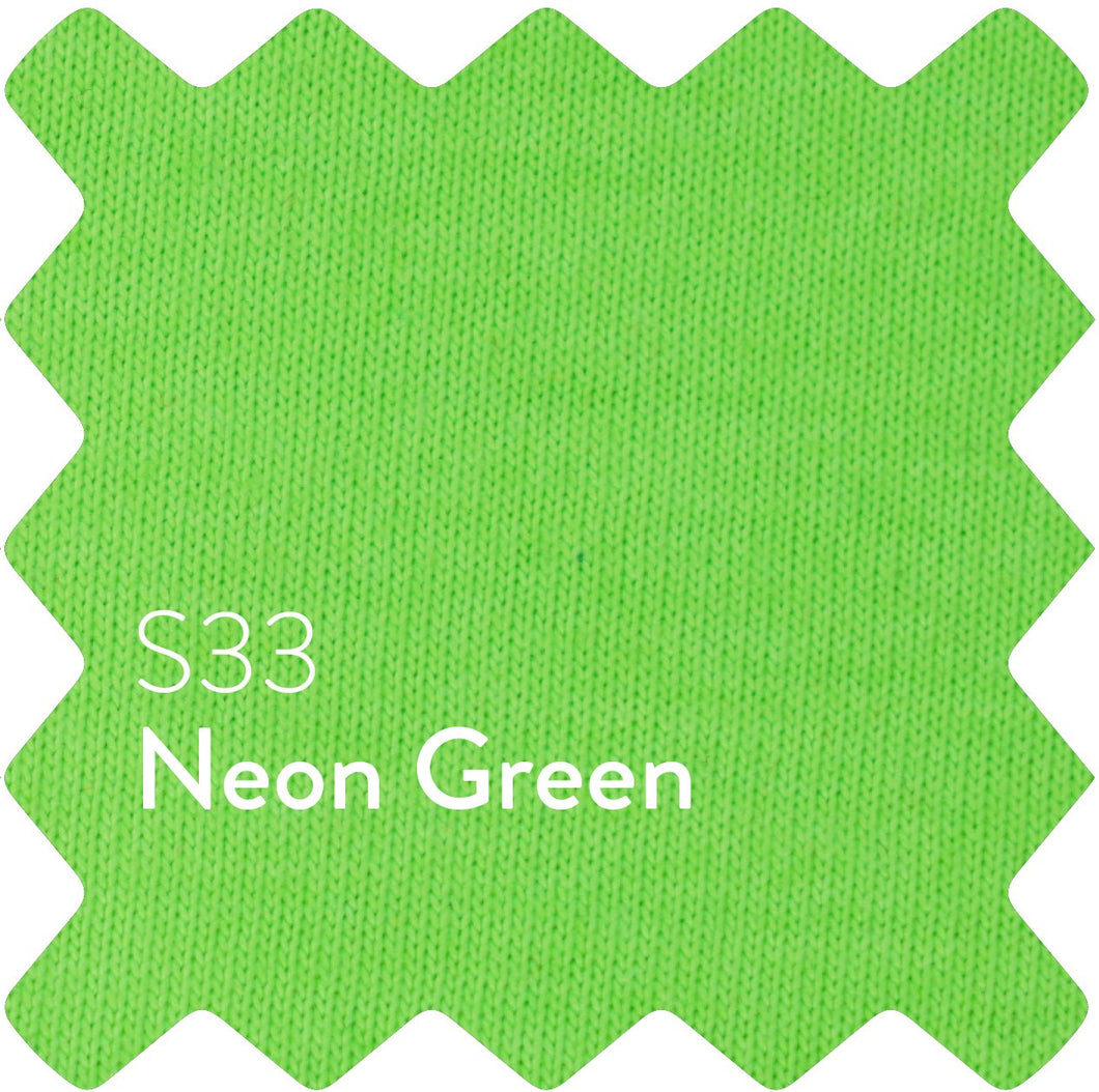 Neon Green Sun Plain T-Shirt