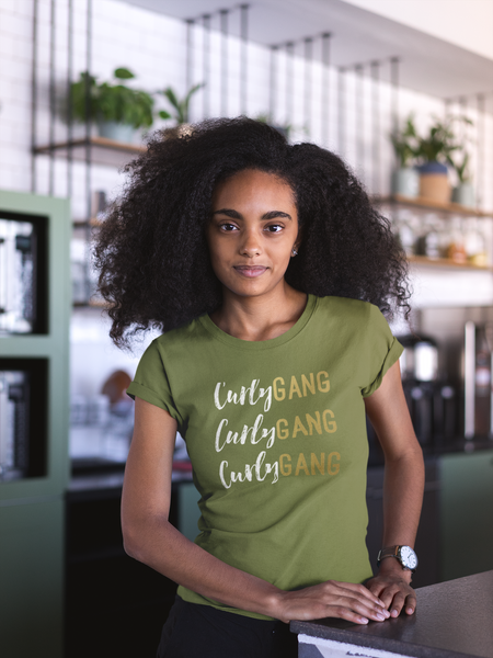 Curly Gang – Curly Hair T-Shirt (Gold Edition)