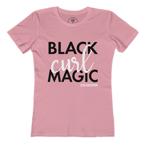Black Curl Magic - Coiled Crown t-shirt (5 Colors)