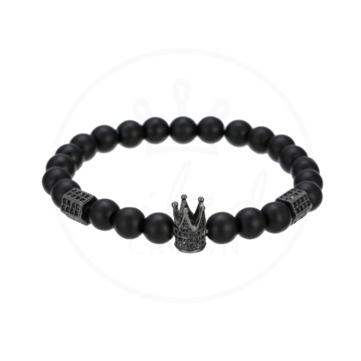 Black Royal Crown Bracelet - Coiled Crown Bracelet