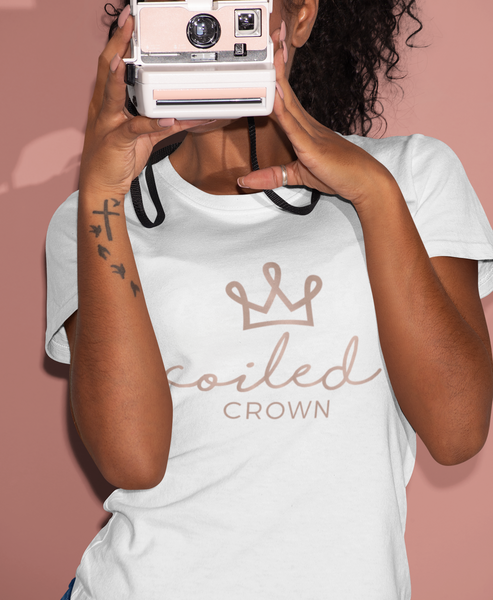 CoiledCrown™ – Natural Hair T-Shirt (Rose Gold Edition)