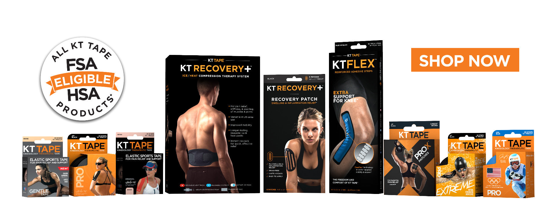 All KT Tape Products are FSA/HSA Eligible