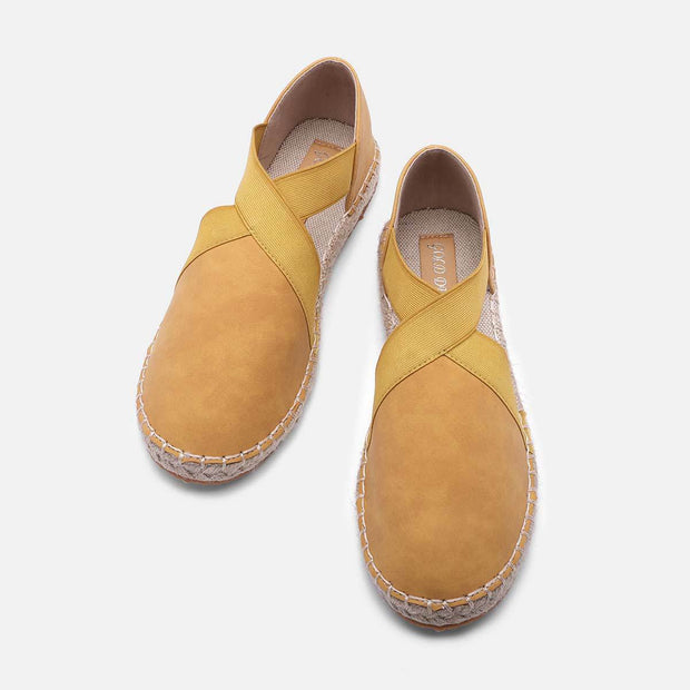 Comfy Espadrilles Sandals Pu Slip On Sandals