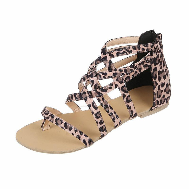 Women Leopard Throng Slip-on Sandal