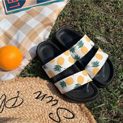Women Slide PVC Pineapple Printed Home Wear Sandals