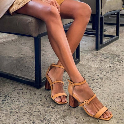 Pi Clue Dress Block Heel Sandals