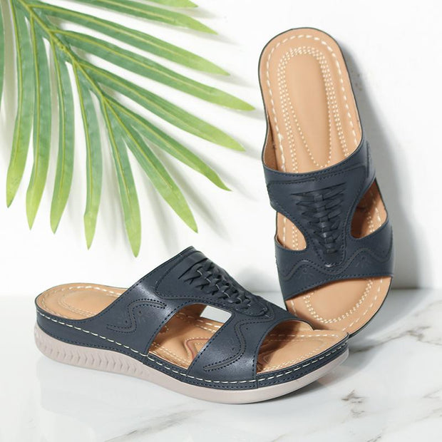 Women Casual Summer Comfy Slip On Sandals