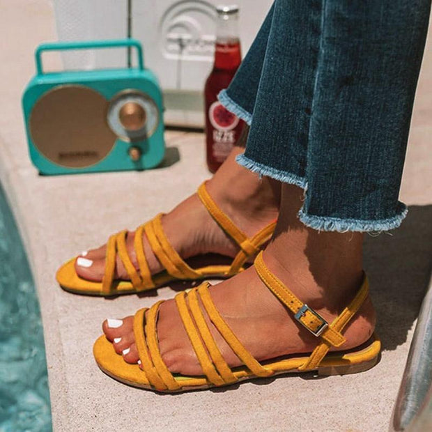 Casual Suede Flat Heel Sandals