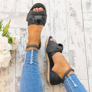 Flat Heel Summer Leather Sandals
