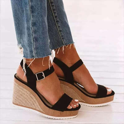 Artificial Leather High Heel Summer Sandals
