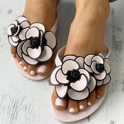 Women Summer Flower  Flat Heel Slippers