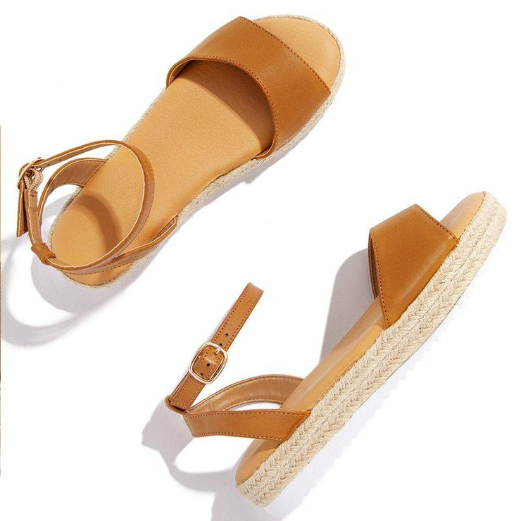 Artificial Leather Low Heel Daily Sandals